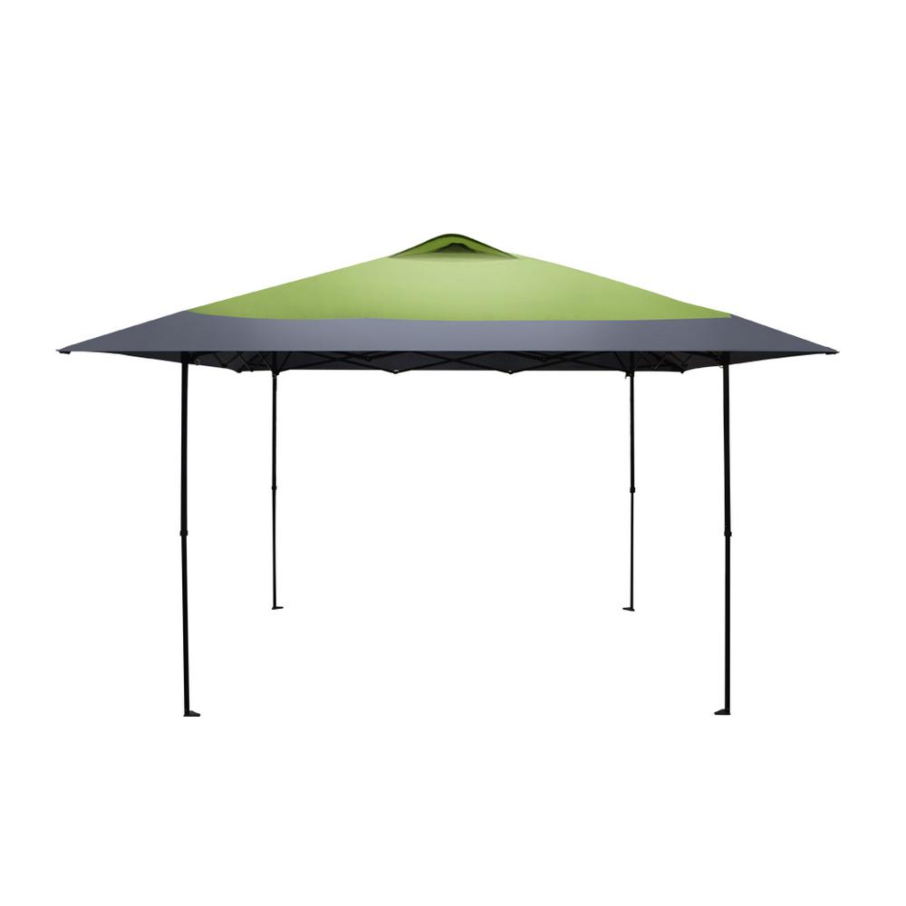 finest selection 77450 fdfae Caravan Canopy Haven Sports 12 ft. 7 in. x 12 ft. 7 in. Forest Green/Grey  Straight Leg Instant Canopy