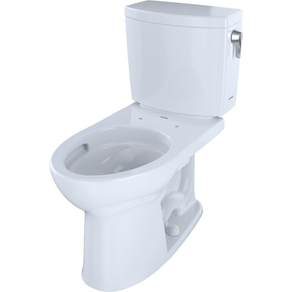 Super Toto Drake Ii 2 Piece 1 0 Gpf Single Flush Elongated Toilet With Cefiontect And Right Hand Trip Lever In Cotton White Ocoug Best Dining Table And Chair Ideas Images Ocougorg