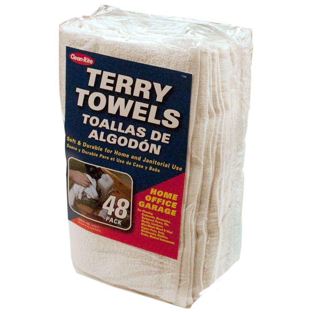 Clean-Rite Terry Towels (48-Pack)