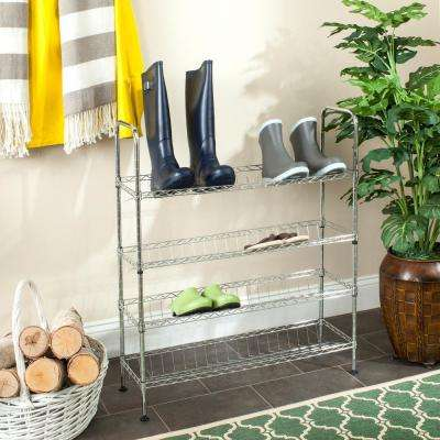 Lidia 29.5 in. X 9.8 in. Chrome Wire Adjustable Decorative Shelf