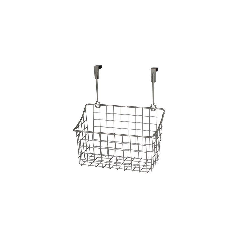 Grid 10.125 in. W x 6.625 in. D x 11.25 in. H Over the Cabinet Medium Basket in Satin Nickel Powder Coat