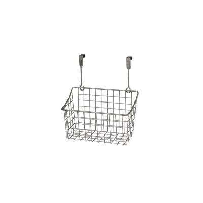 Grid 10.125 in. W x 6.625 in. D x 11.25 in. H Over the Cabinet Medium Basket in Satin Nickel Powder Coat