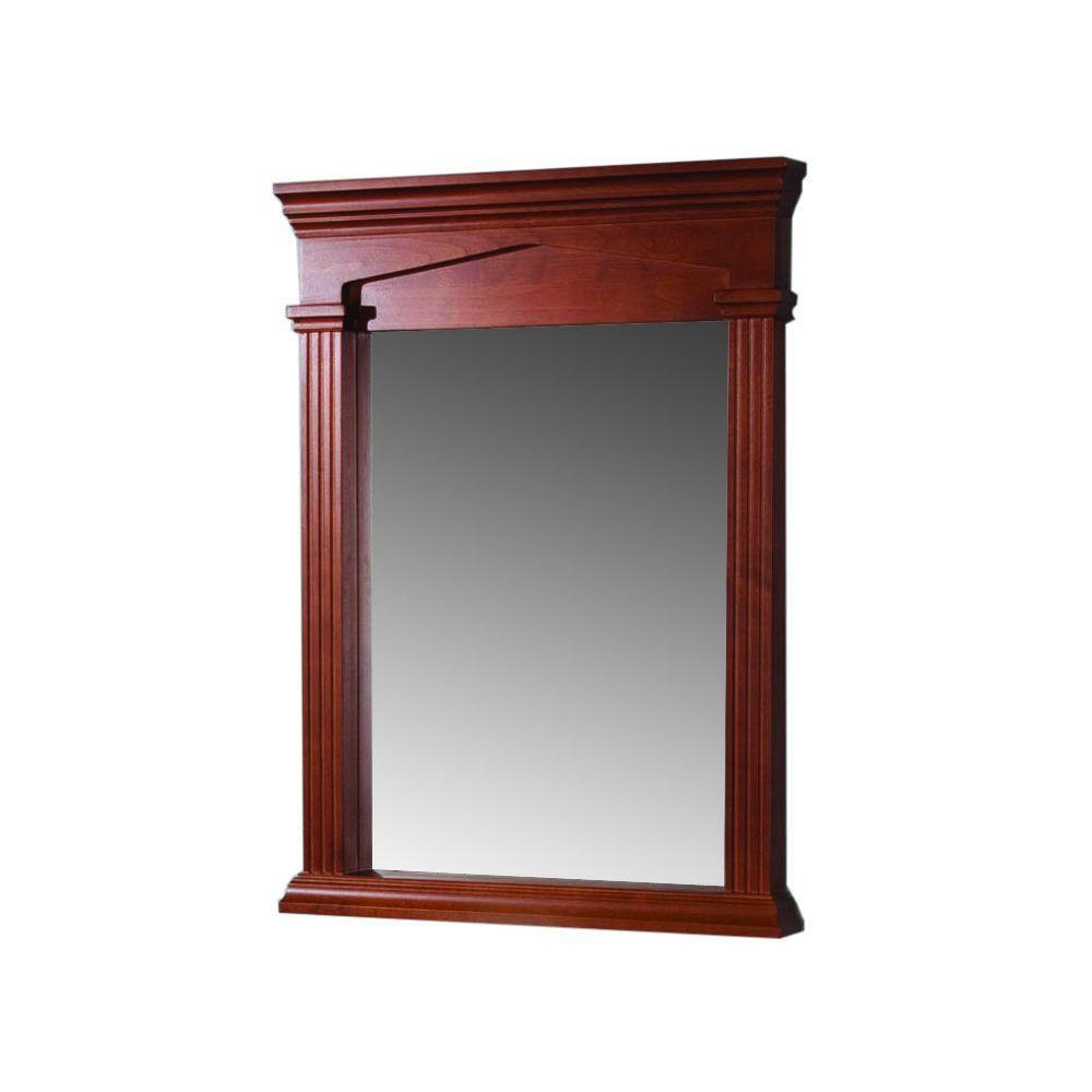 Martha Stewart Living Wayland 25 in.x 33 in. Wall Mirror in Filbert Brown-DISCONTINUED