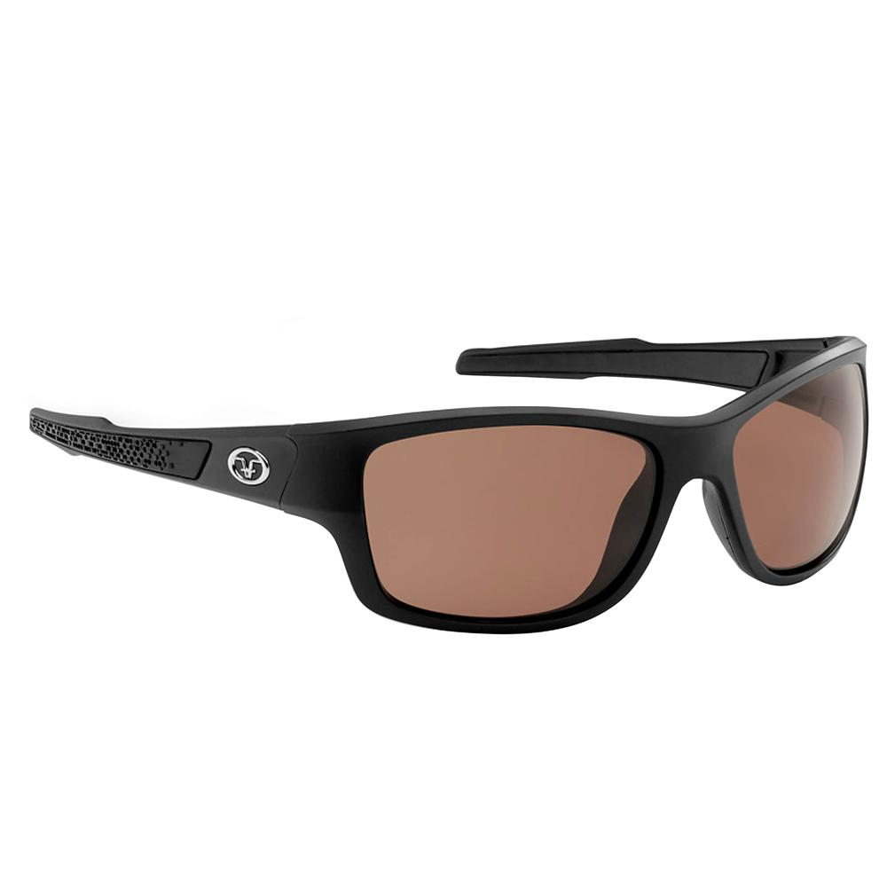 13c2074517 Flying Fisherman Down Sea Polarized Sunglasses Matte Black Frame with  Vermillion Lens