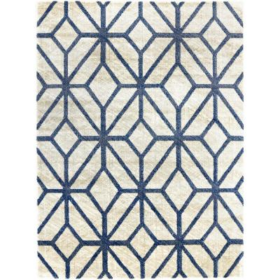 Tanja Mason Blue 5 ft. 2 in. x 7 ft. 2 in. Indoor Area Rug