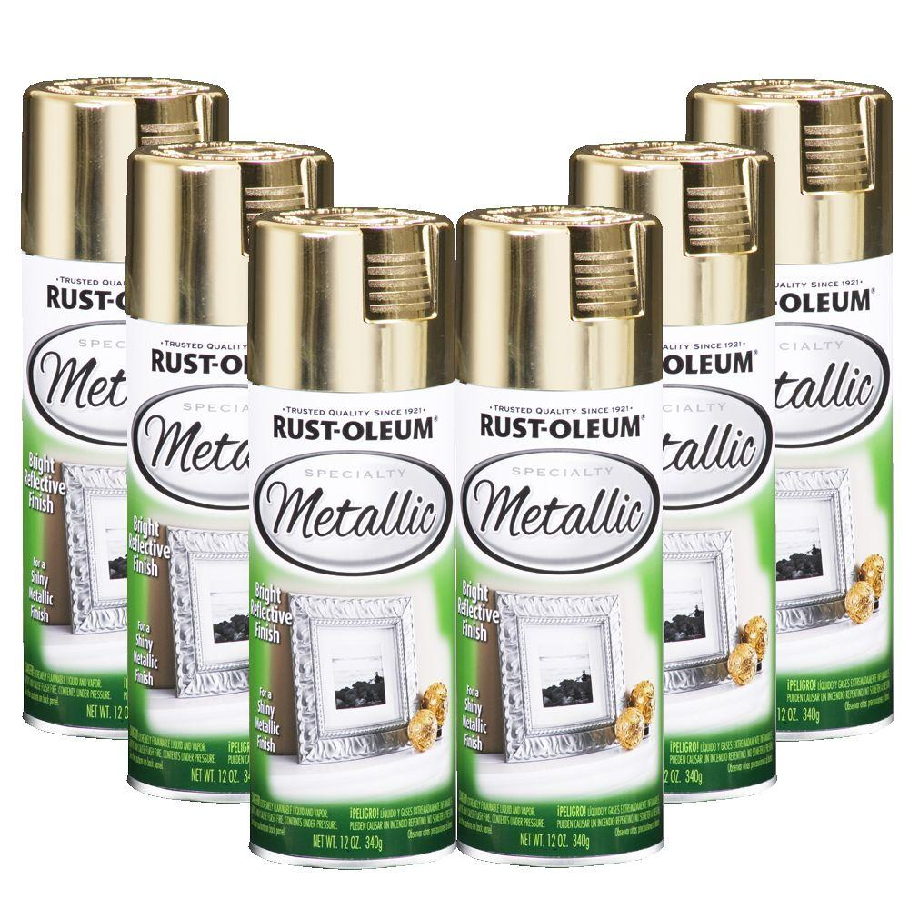 Rust-Oleum Specialty Metallic 12 oz. Gloss Gold Spray Paint (6-Pack)-DISCONTINUED