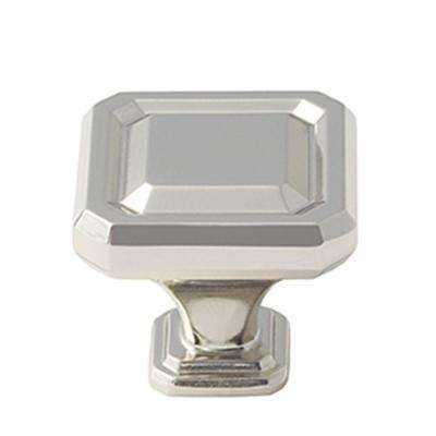 Wells 1-1/2 in. (38 mm) Polished Nickel Cabinet Knob