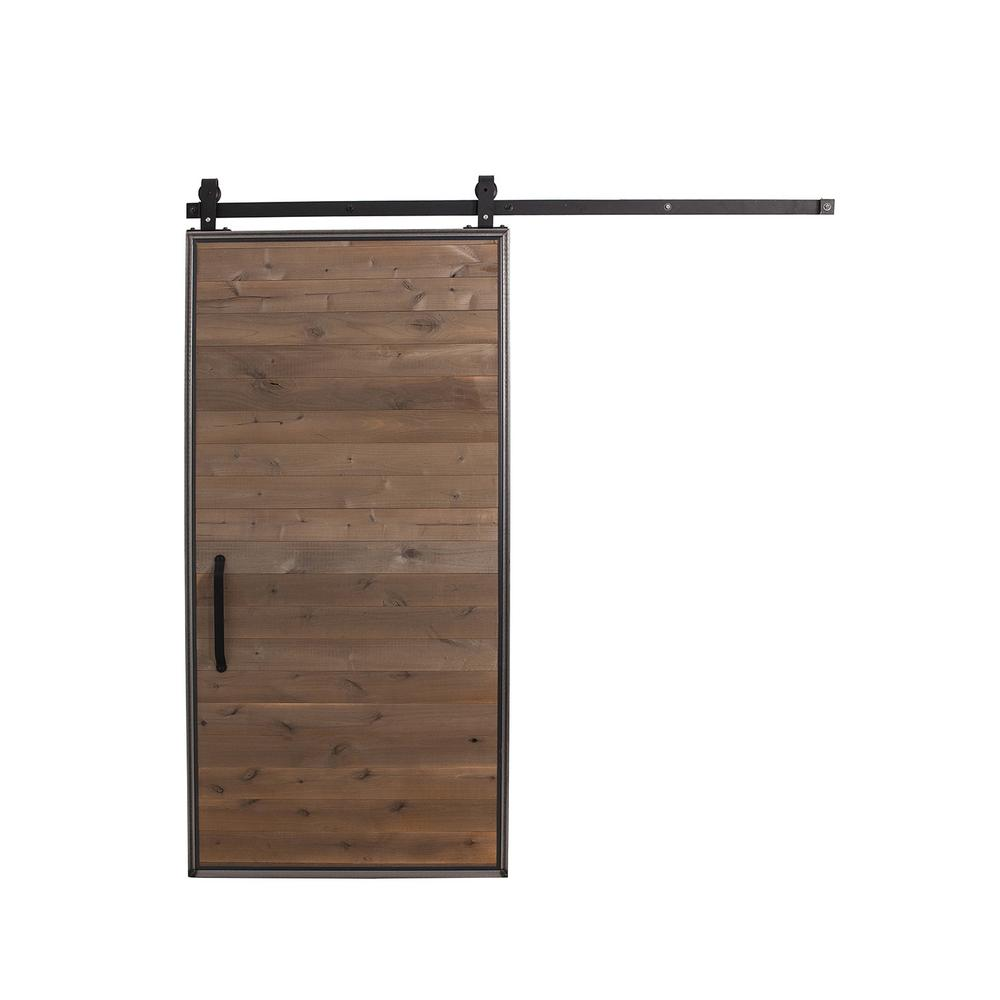 36 in. x 84 in. Mountain Modern Home Depot Grey Wood