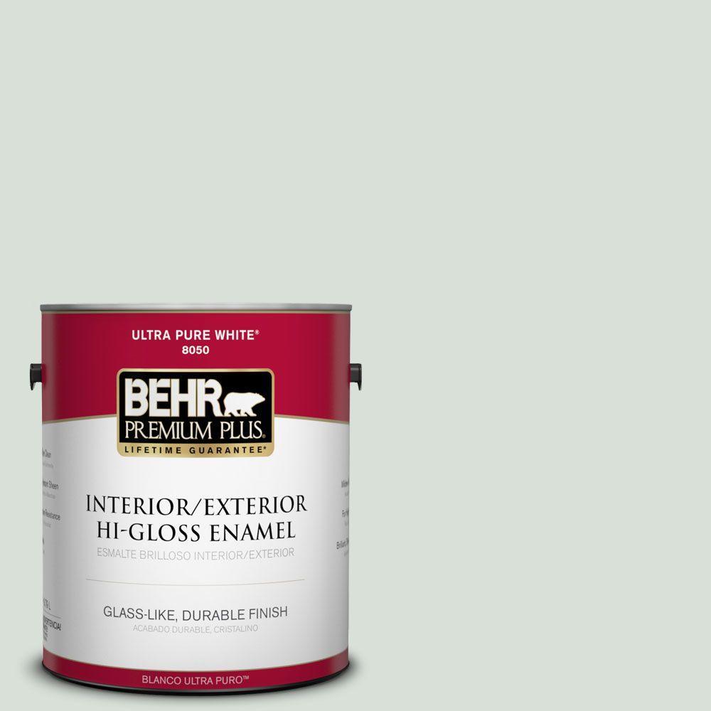 1-gal. #N420-1 Juniper Breeze Hi-Gloss Enamel Interior/Exterior Paint