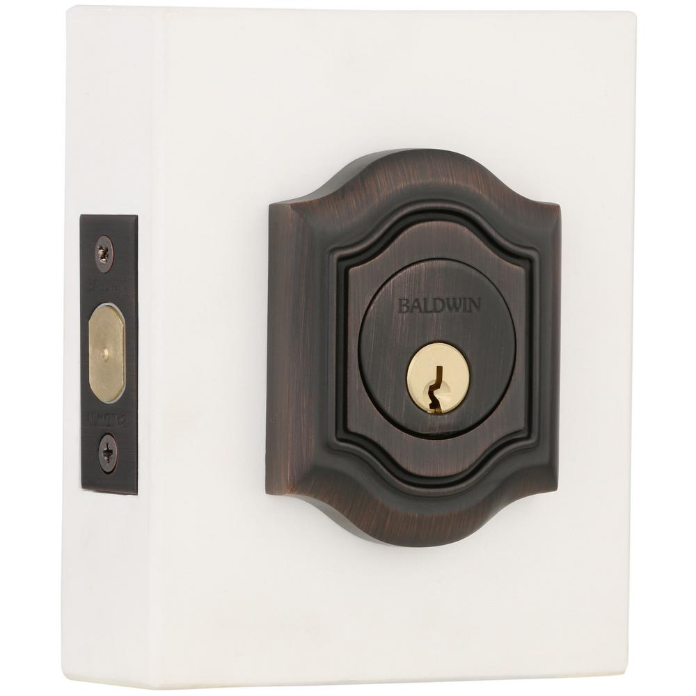 2-1/8 in. Bethpage Double Cylinder Door Prep Venetian Bronze Deadbolt