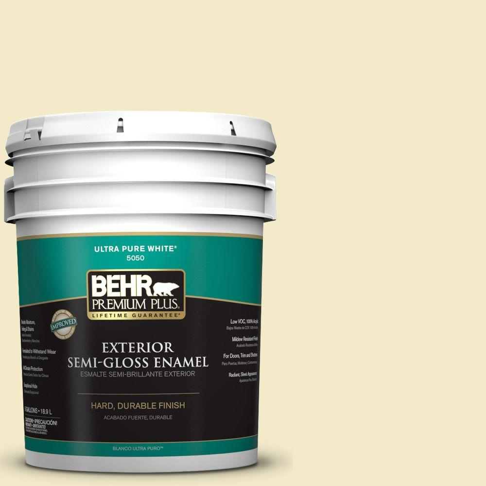 5-gal. #P350-2 May Apple Semi-Gloss Enamel Exterior Paint