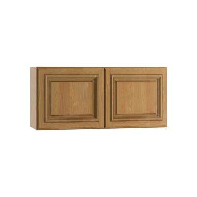 Clevedon Assembled 33x15x12 in. Double Door Wall Kitchen Cabinet in Toffee Glaze