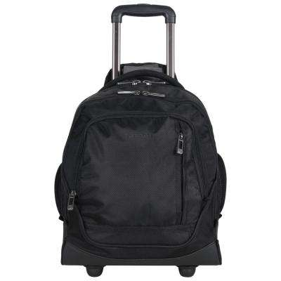17 in. Lightweight 1680D Polyester Dual Compartment 2-Wheel 13 in. Laptop Business Mobile Office Under Seater Bag