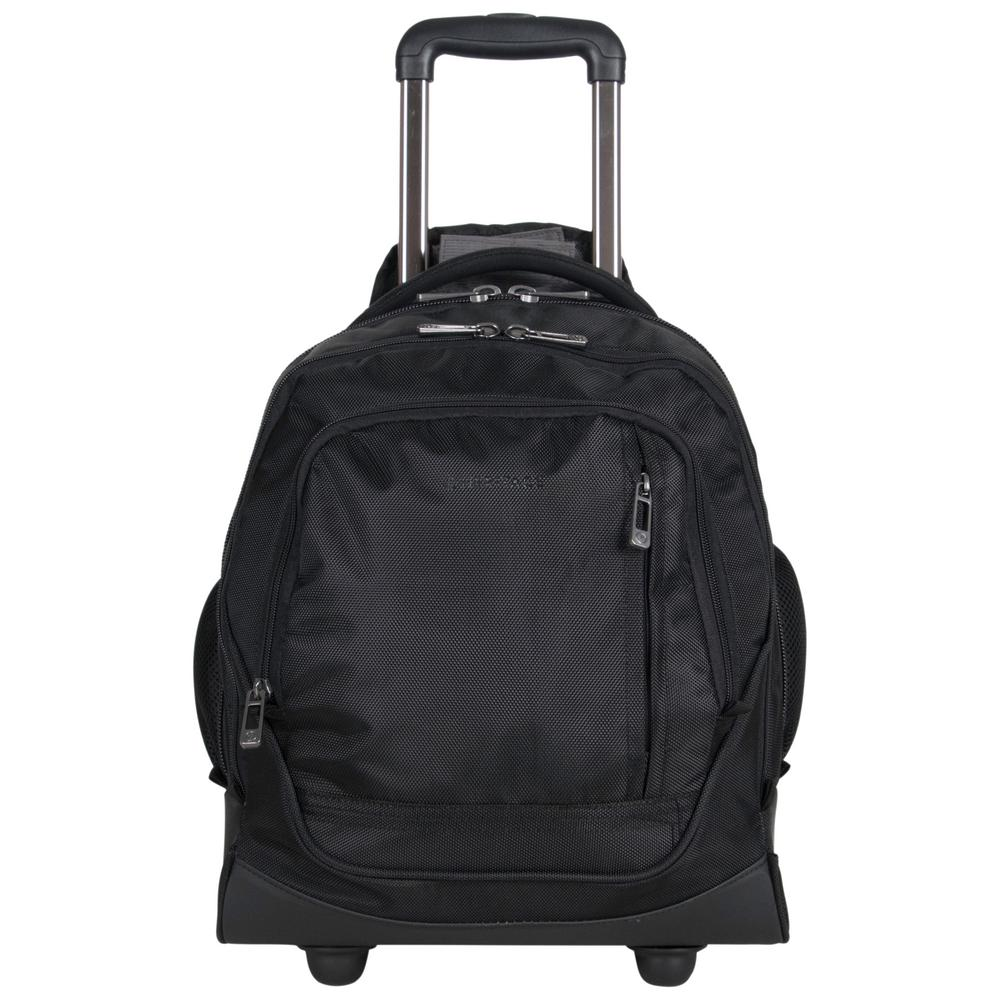 Lightweight 1680d Polyester Dual Compartment 2 Wheel 13 In Laptop