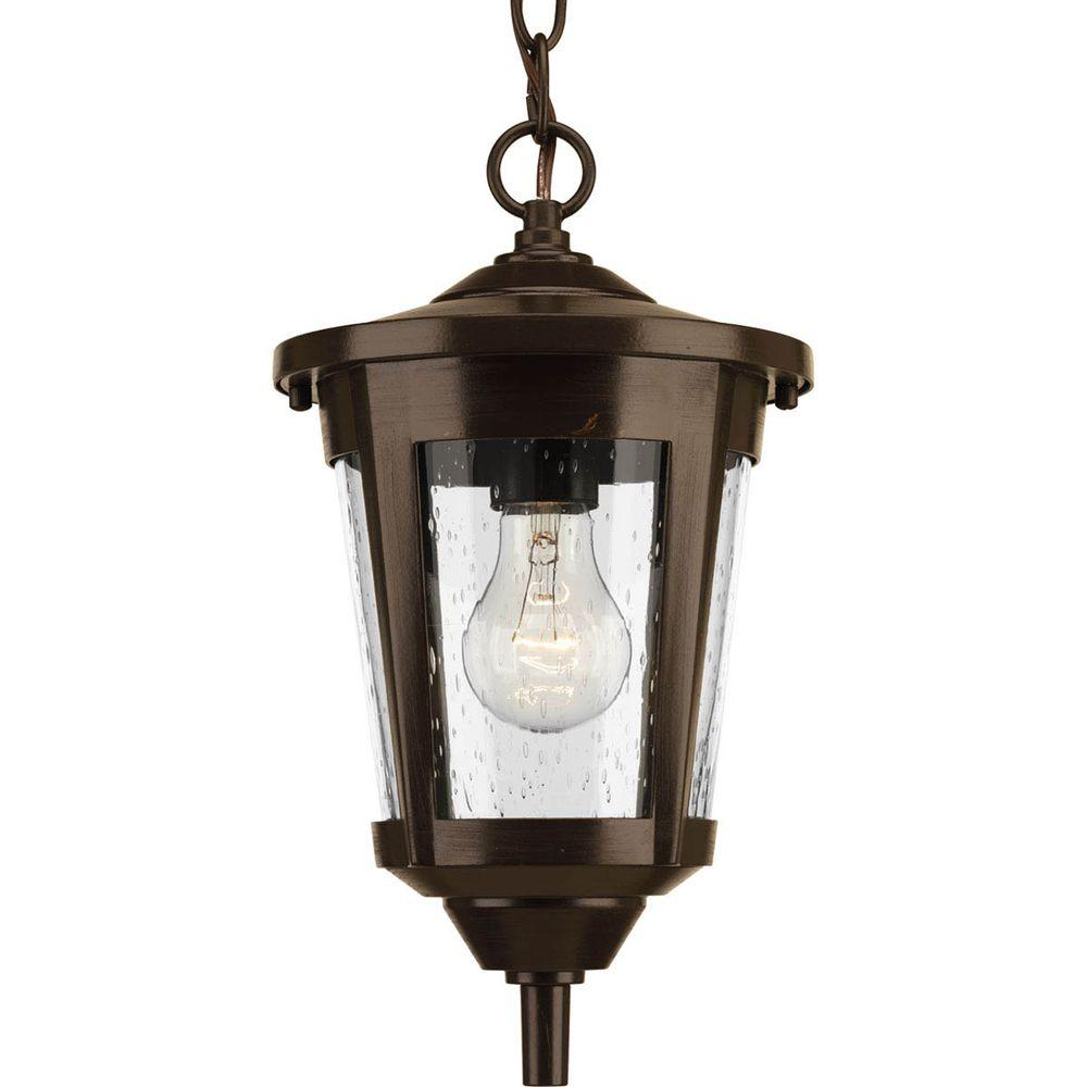 East Haven Collection 1-Light Outdoor Antique Bronze Hanging Lantern