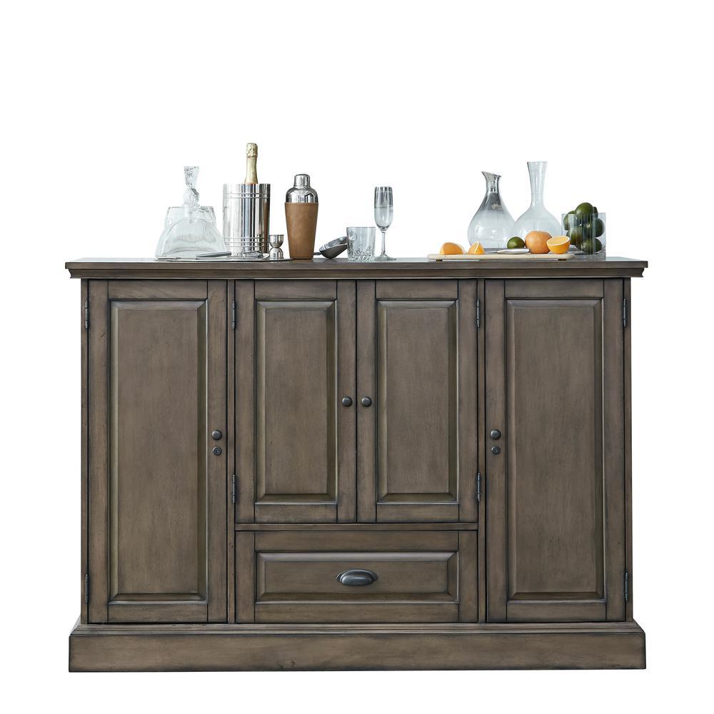 American Heritage Billiards Carlotta Charcoal Wine Cabinet