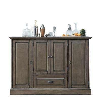Carlotta Charcoal Wine Cabinet Featuring Pull-Out Wine Storage