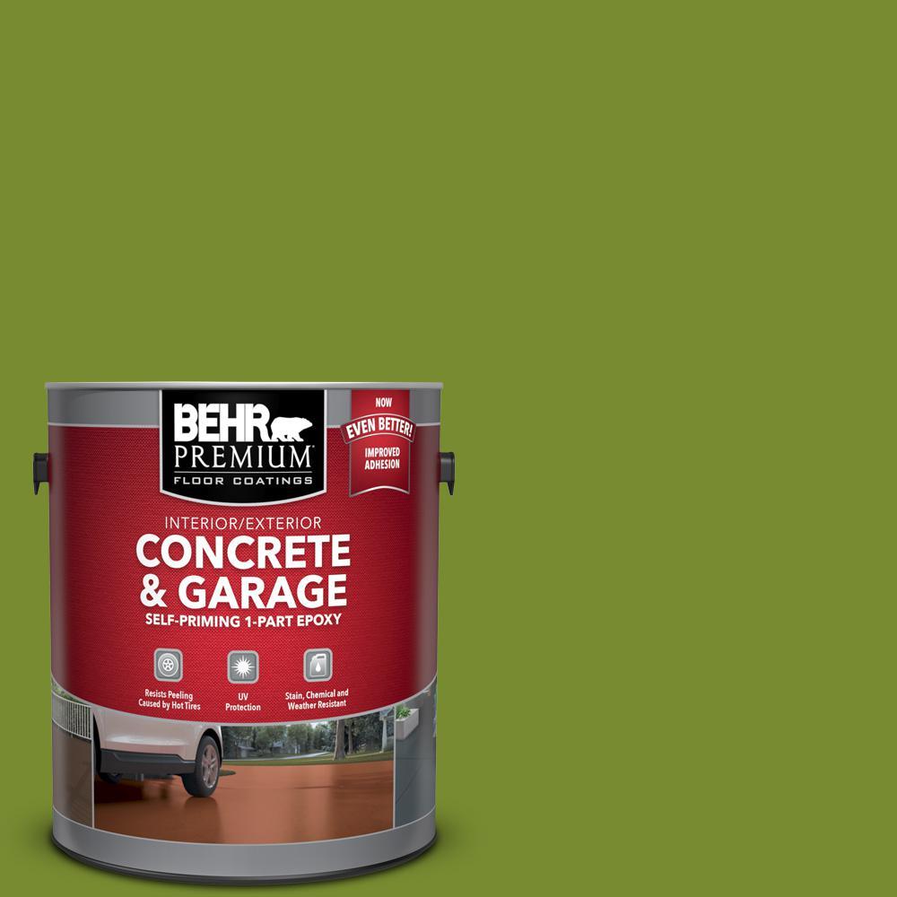 1 gal. #P360-7 Sassy Grass Self-Priming 1-Part Epoxy Satin Interior/Exterior Concrete and Garage Floor Paint
