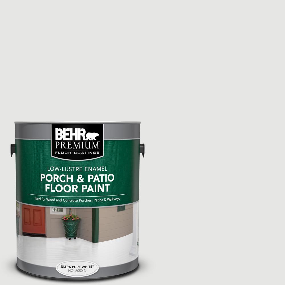 Behr Premium 1 Gal Pfc 66 Ice White Low Lustre Enamel Interior