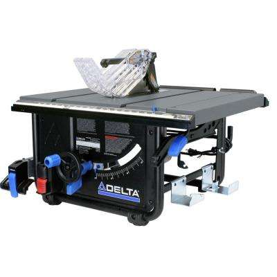 15 Amp 10 in. Left Tilt 30 in. Portable Jobsite Table Saw