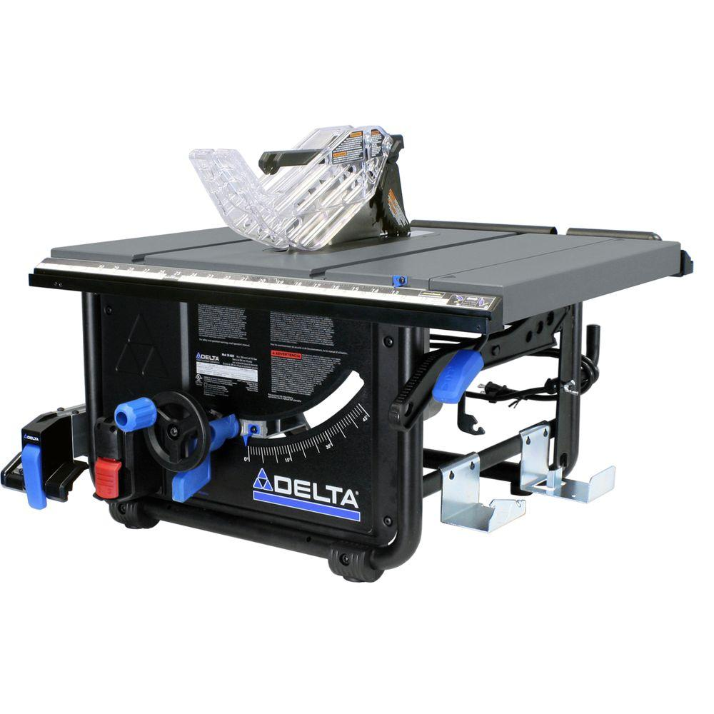 15 Amp 10 in. Left Tilt Portable Jobsite Table Saw