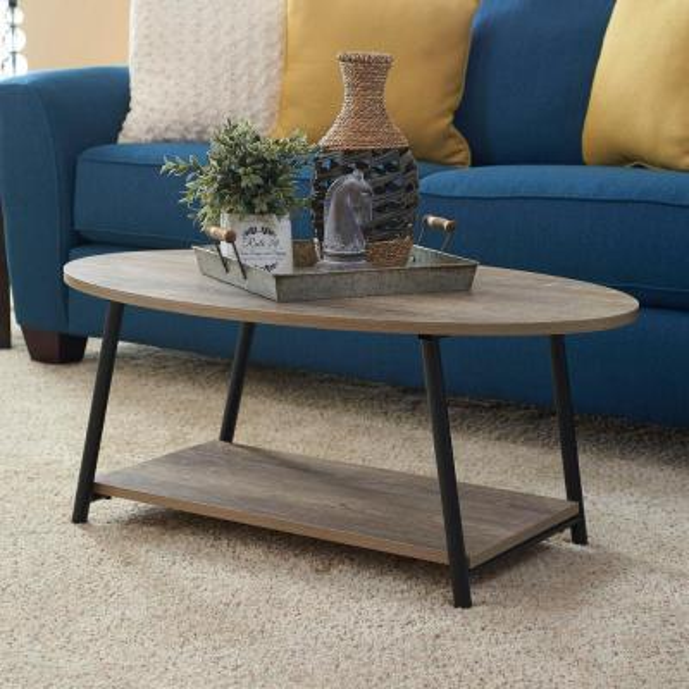 Oval 2 Tier Ashwood Coffee Table