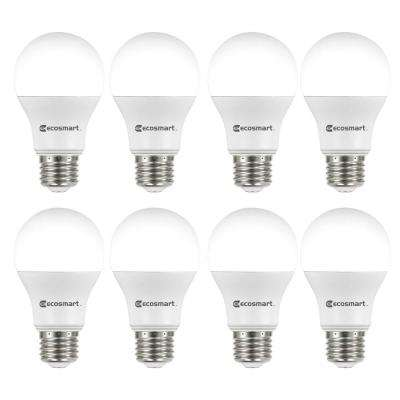 60 Watt Equivalent A19 Non Dimmable Led Light Bulb Daylight 8 Pack
