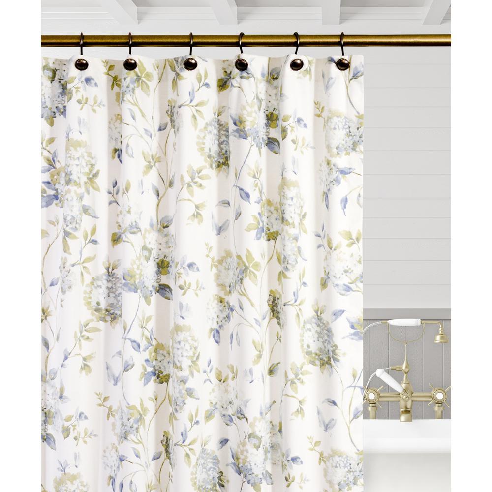 Porcelain Floral Shower Curtain