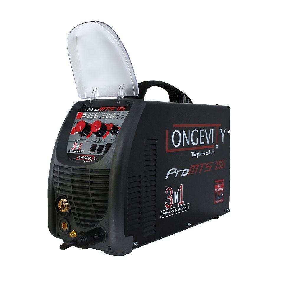 ae63acf7c94b Longevity Promts 252i 250 Amp Multi-Process Welder with PFC Auto Voltage  Technology