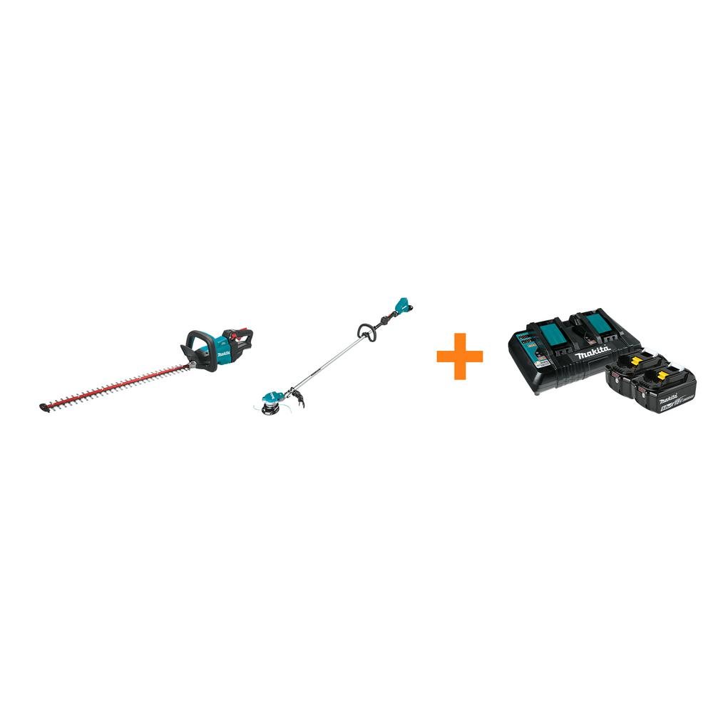 Makita 18V LXT Cordless 30 in. Hedge Trimmer and 18V X2 LXT Brushless String Trimmer with bonus 18V LXT Starter Pack was $787.0 now $538.0 (32.0% off)