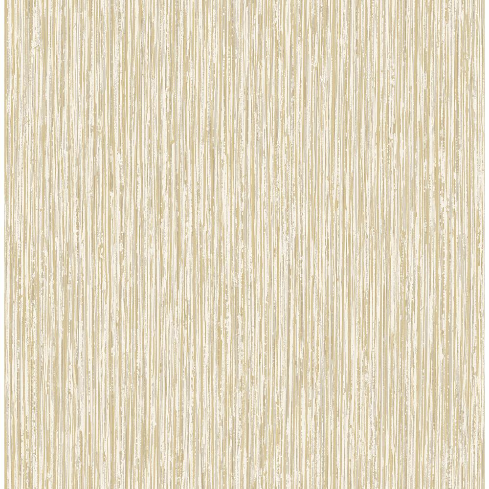 Kofi Champagne Faux Grasscloth Wallpaper Sample
