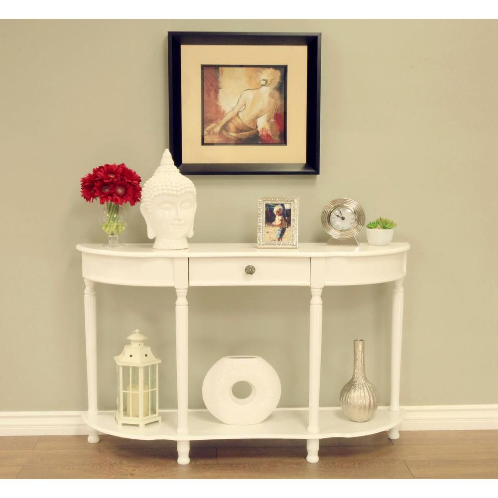 Homecraft Furniture White Storage Console Table