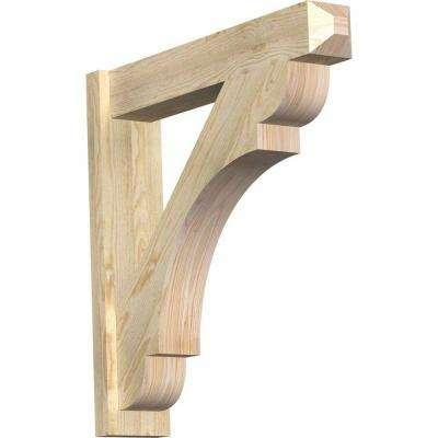 6 in. x 30 in. x 30 in. Douglas Fir Olympic Craftsman Rough Sawn Outlooker