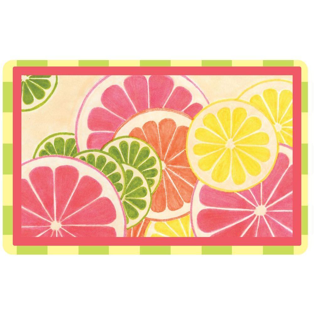 Multi Color 23 in. x 36 in. Neoprene Fresh Citrus Door