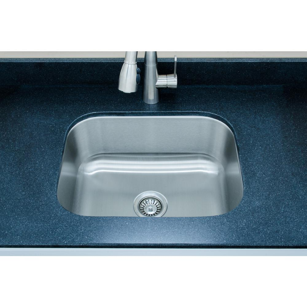 Wells The Craftsmen Series Undermount Stainless Steel 23 in. Single ...