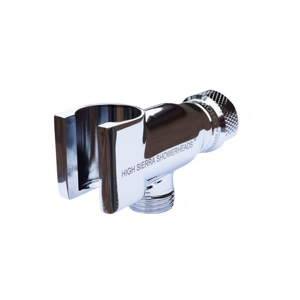 All Metal Universal Handheld Shower Holder in Chrome
