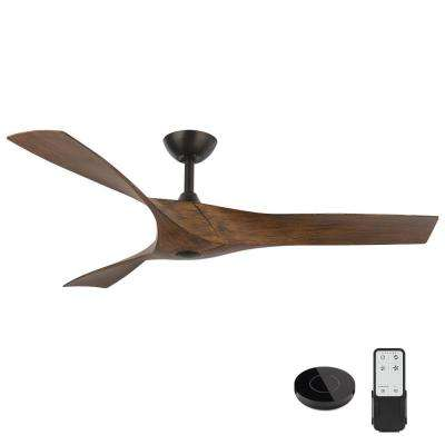 Wesley 52 in. Brushed Nickel Ceiling Fan with Remote Control works with Google and Alexa