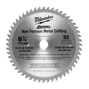 Milwaukee 6-7/8 inch x 52 Tooth Non-Ferrous Metal Circular Saw Blade by Milwaukee