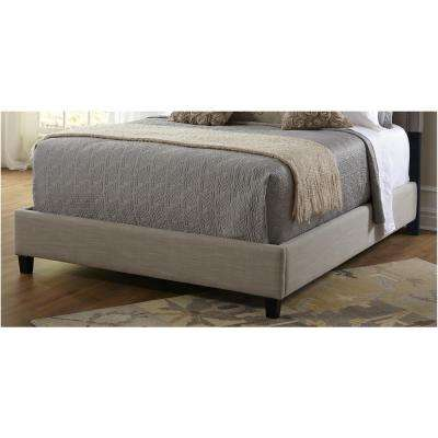 Taupe King Upholstered Bed