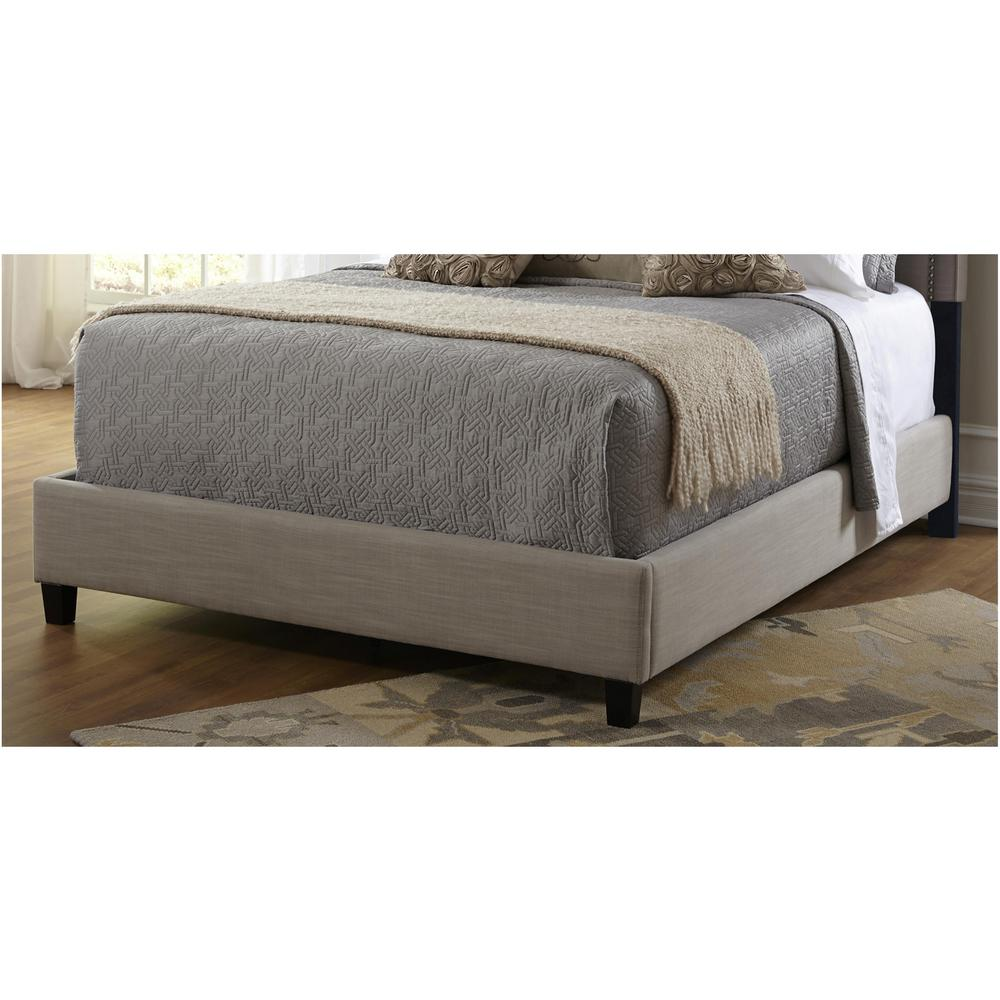 PRI Taupe King Upholstered Bed