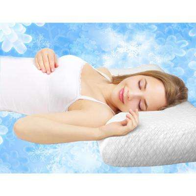 Ice Gel Memory Foam Jumbo Pillow with Ice-to-the-Touch Cover