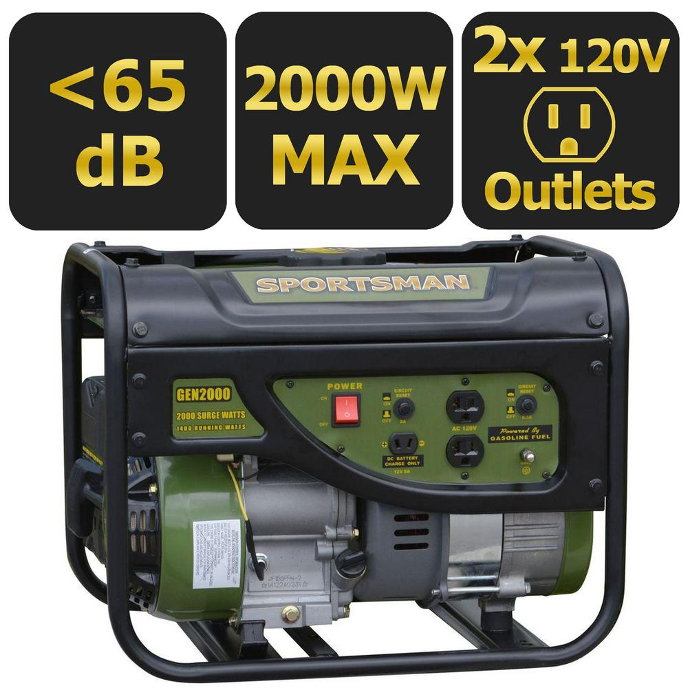 2,000-Watt Gasoline Powered Portable Generator