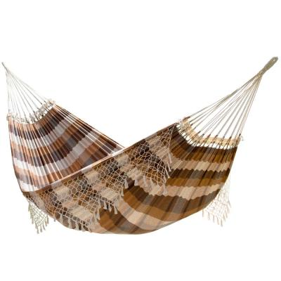 13 ft. Authentic Brazilian Cotton Tropical Hammock Bed in Brazilwood