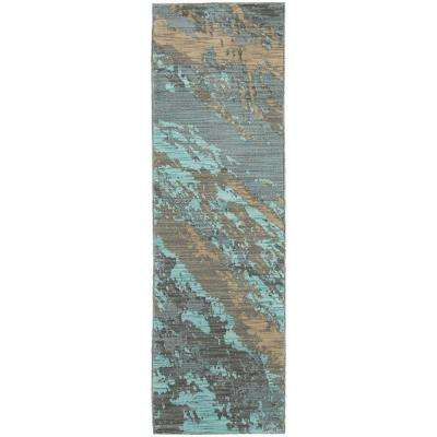 Java Blue 2 ft. x 8 ft. Runner Rug