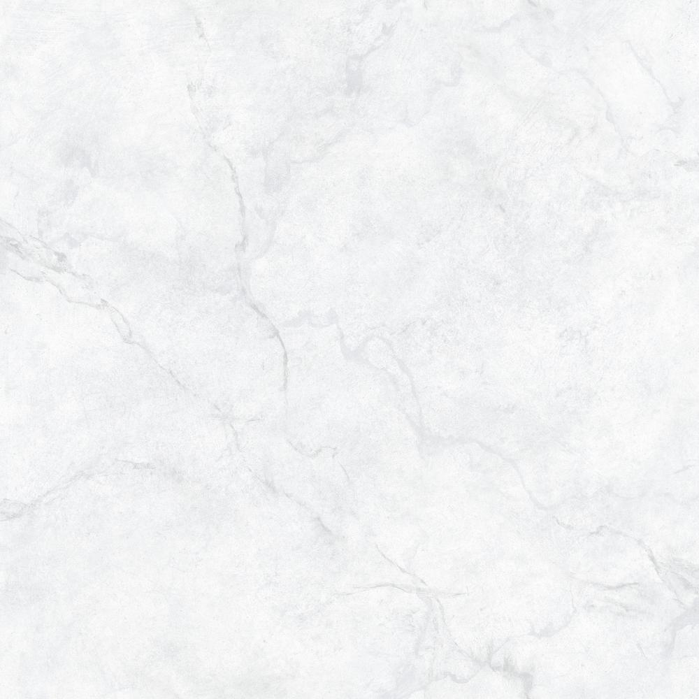 Carrara Marble White & Off-White Wallpaper Sample