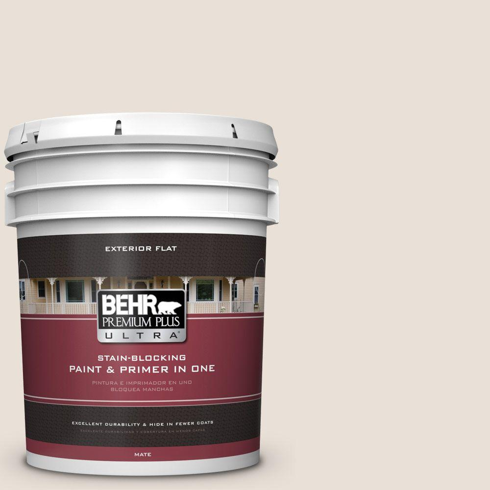 5-gal. #730C-1 White Clay Flat Exterior Paint