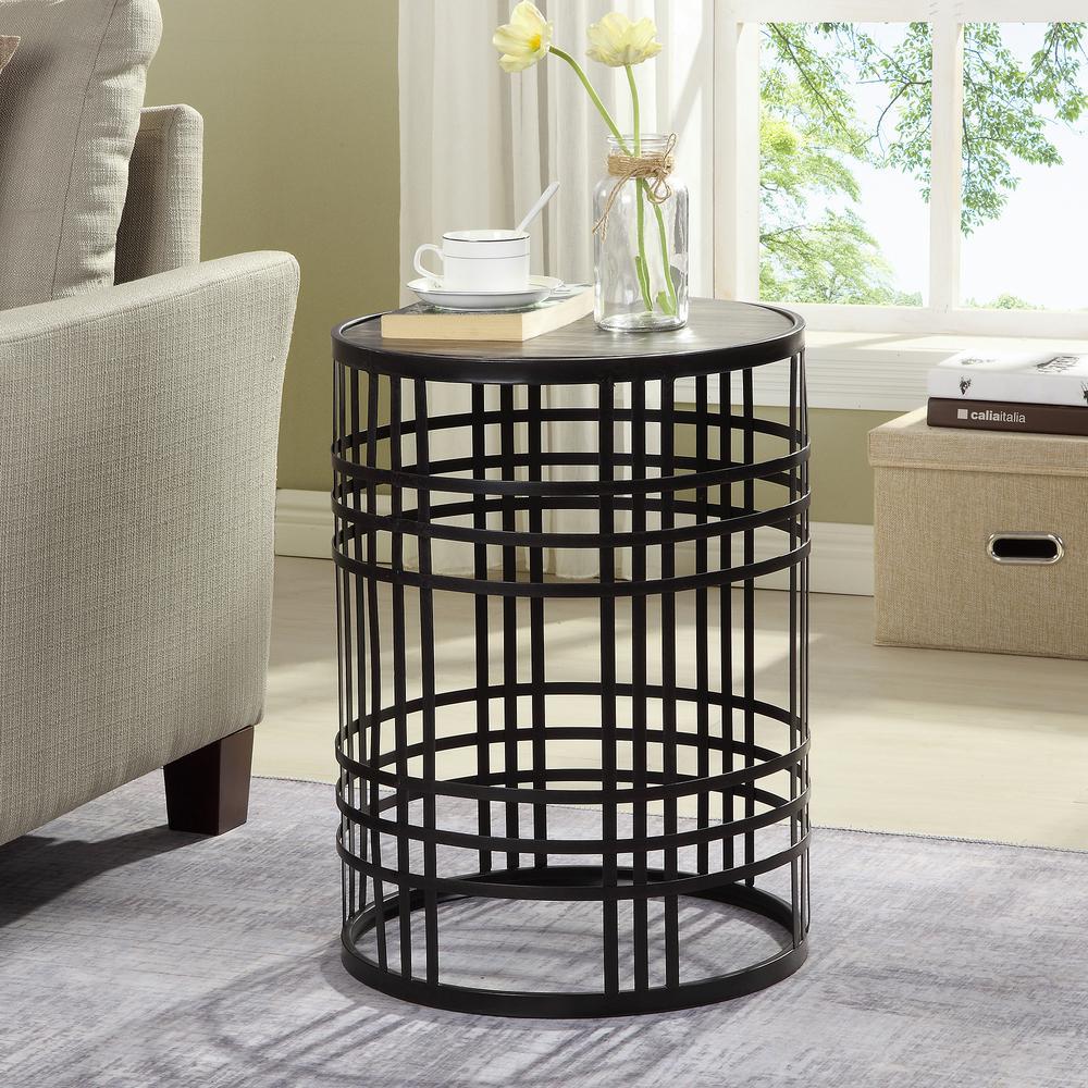 22 in. Industrial Weave Table