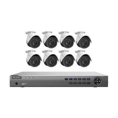 16-Channel Full HD IP Indoor/Outdoor Surveillance 3TB NVR System (8) 1080P Cameras Free Remote View and Digital Zoom