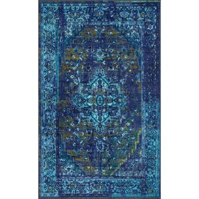 Reiko Vintage Persian Blue 10 ft. x 14 ft. Area Rug