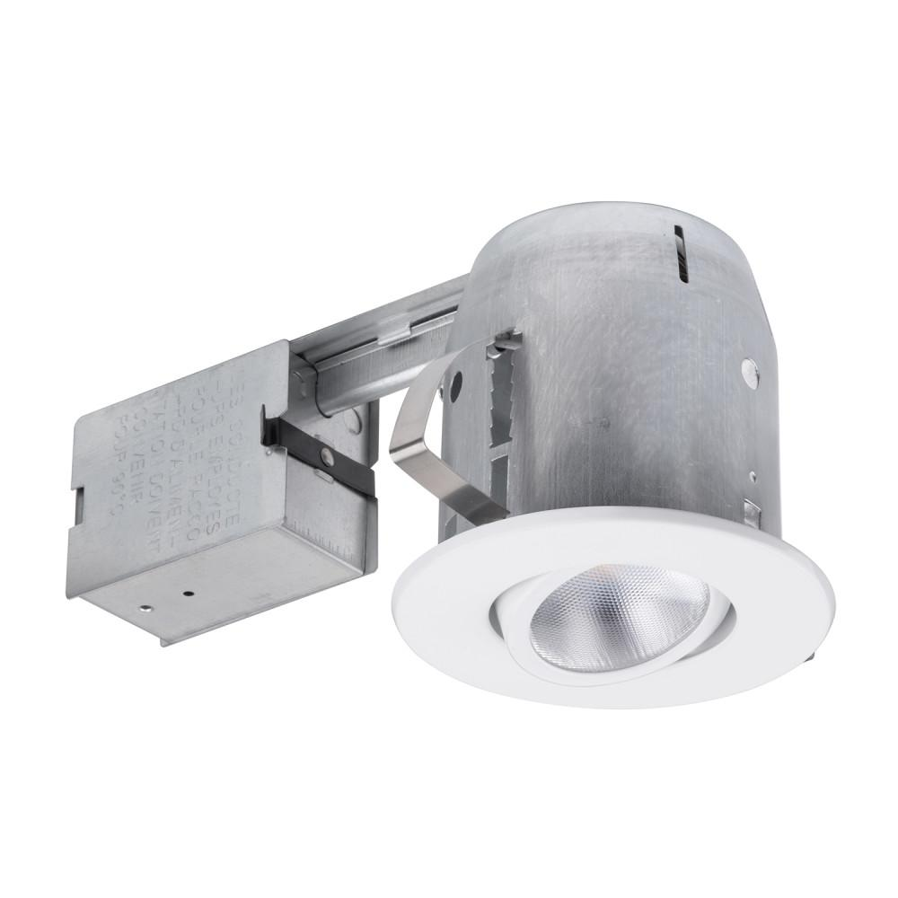 Installing Recessed Lighting: Globe Electric 5 In. White LED IC Rated Swivel Spotlight